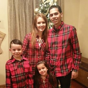 Matching family plaid flannels
